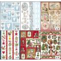 Assortimento carte dècoupage 50x70cm - Cuori e Festività