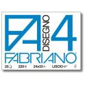 Fabriano4 Blocco Liscio 24X33 220gr - 20 fogli