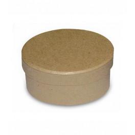 Scatola ovale cm. 7x5.8x4 h avana
