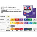 FIMO Soft Effect 028 - 56gr. Metallic Ruby Red