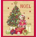 Decoupage 3D 6x10 Albero di Natale con orsetto
