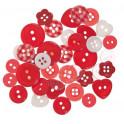 Bottoni misti rossi/bianchi