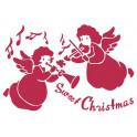 Stencil G cm 21x29,7 Sweet Christmas angeli