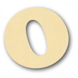 Alfabeto in balsa O h cm. 10