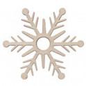 Miniatura di legno - Fiocco di neve 5cm Mod.3