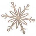 Miniatura di legno - Fiocco di neve 5cm Mod.5