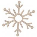 Miniatura di legno - Fiocco di neve 5cm Mod.6