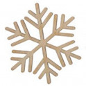 Miniatura di legno - Fiocco di neve 5cm Mod.7