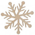 Miniatura di legno - Fiocco di neve 5cm Mod.8