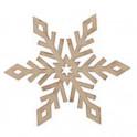 Miniatura di legno - Fiocco di neve 5cm Mod.9