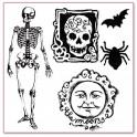 Timbro acrilico cm. 10X10 Halloween
