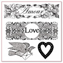 Timbro acrilico cm. 10X10 Love