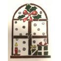 Stencil A4 - 610 - Finestra di Natale