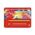 Scatola Metallo 30 colori - Pastelli Supracolor Water soluble – Caran d'Ache - 3888