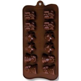 Stampo 12 cioccolatini sogg. Natale cm 22x10