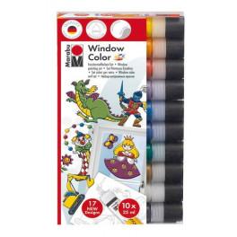 Set Window Color Fun & Fancy Marabu 10x25 ml - Assortimento