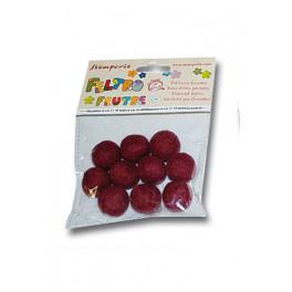 Conf. 10 palline con buco diam. cm. 2 - Fuscia