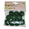 Conf. 10 palline con buco diam. cm. 2 - Verde bosco