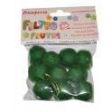 Conf. 10 palline con buco diam. cm. 2 – Verde brillante