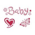 Stencil D cm.20x15 Baby