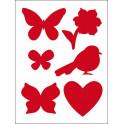 Stencil D cm.20x15 farfalle