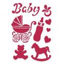 Stencil G cm. 21x29,7 Baby