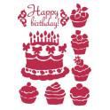 Stencil G cm. 21x29,7 Happy birthday