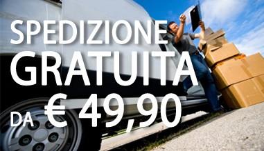 Spedizione gratuita da € 49,90