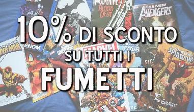 Sconto fumetti del 10%